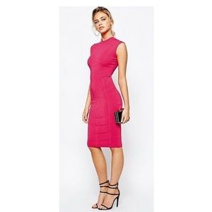 01814eb0458 Ted Baker Dresses - Ted Baker Sahskia Knit fuchsia bodycon dress